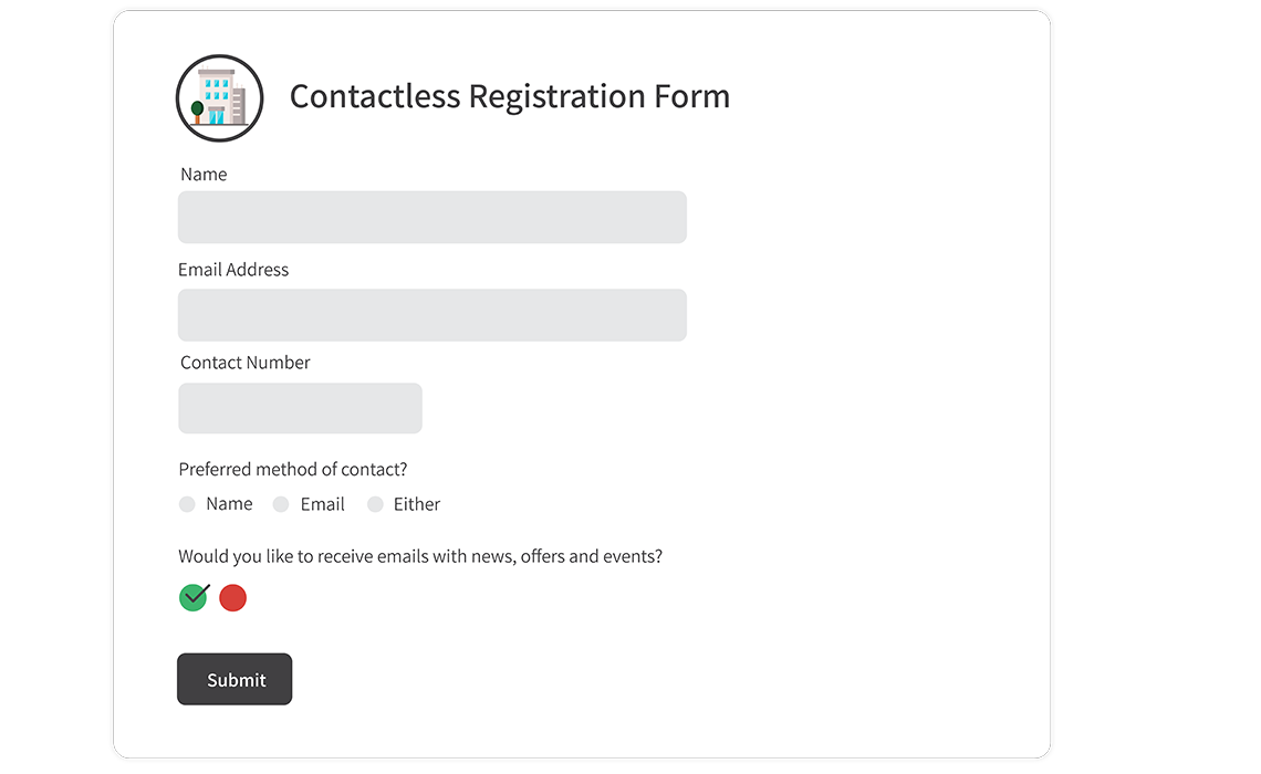 Contactless Registration