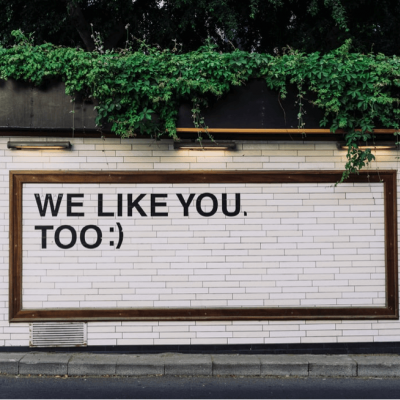 A positive message on the side of a carbon neutral business